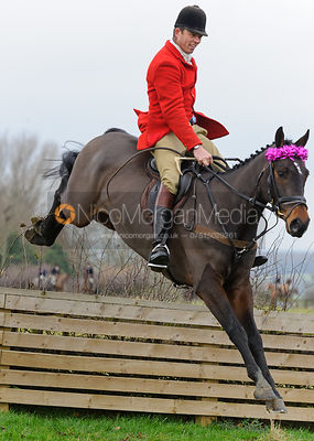 Jonty Evans jumping on the Baggrave Estate