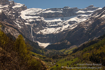Cirque of Gavarnie and great cascade
