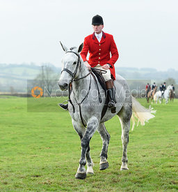 Lewis Chutter leaving the meet. The Belvoir Hunt at Highfield Farm 12/12