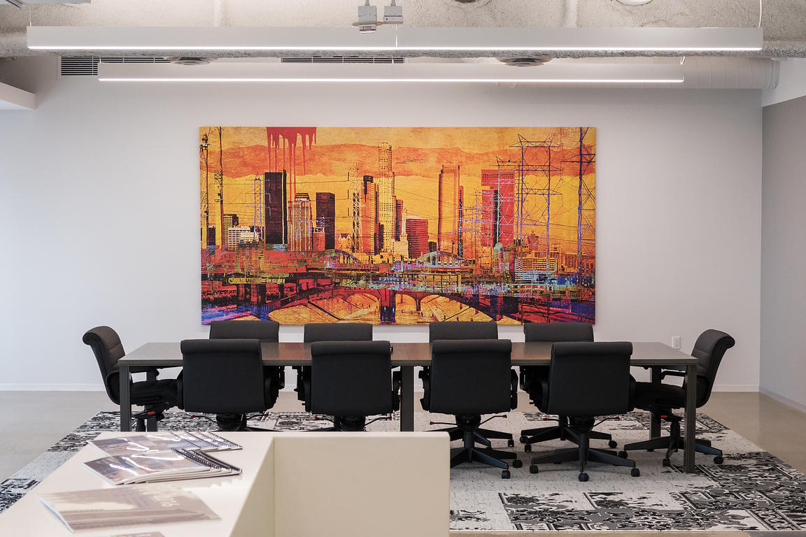 A 6x12' canvas piece for a Los Angeles conference room.