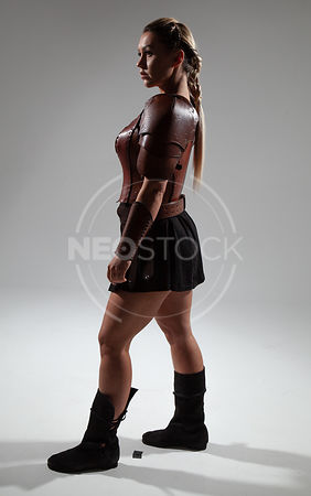 Emily H Cinematic Amazon Warrior Stock Photography