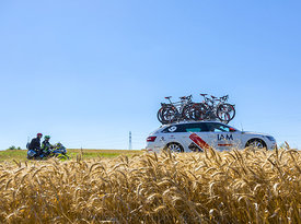The Technical Car of IAM Team in the Plain - Tour de France 2016