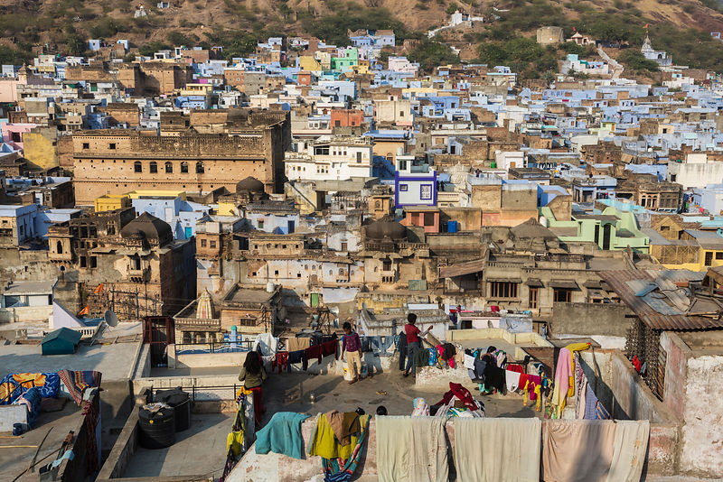 Elevated View of the Old City of Bundi