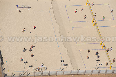Sand sports courts, Brighton Beach, Sussex