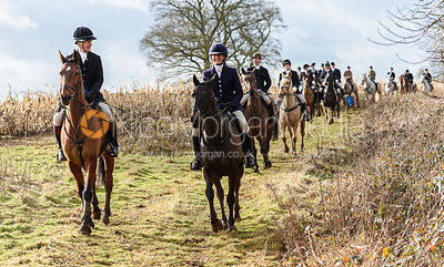 James Henderson, Justine Smiley-Jones at Croxton Park. The Belvoir Hunt at Eaton Grange 7/2