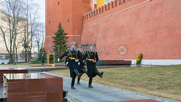 Changing of the Honor Guard Ceremony at the Tomb of the Unknown Soldier, Moscow; Russian Federation