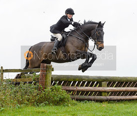 Alice Robb jumping a fence at Stone Lodge Farm