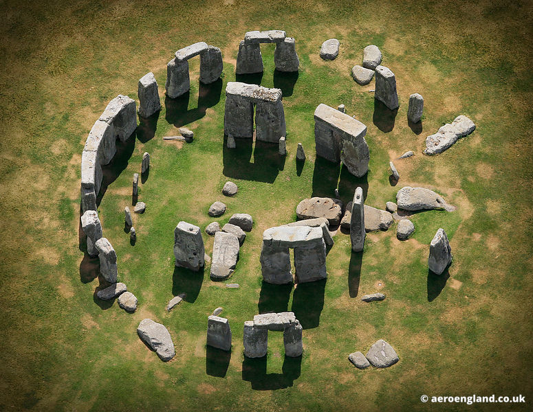 aerial photograph of Stonehenge Wiltshire England UK