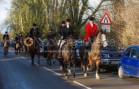 Followers arriving at the meet at the Carington Arms, Ashby Folville