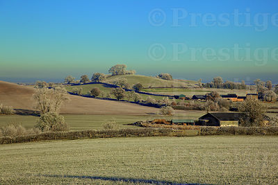 Oxfordshire fields on a beautiful, frosty winters morning