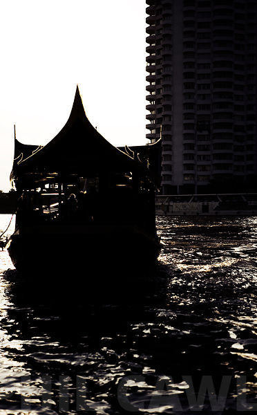 Boat on the Chao Phraya River Thailand