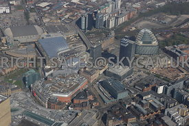 N.O.M.A development area the CIS Tower Victoria Railway Station Shudehill Bus and Metro Terminal and Angel Square North Manch...