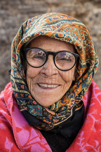Portrait of a Woman with Strong Glasses