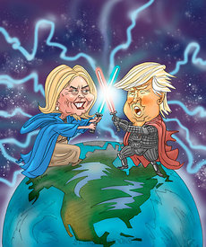 Trump-Clinton Battle
