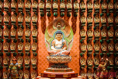 Buddha statue in Buddha Tooth relic temple, Singapore