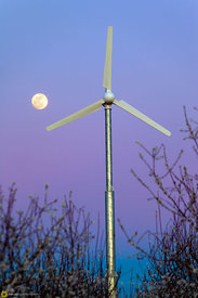 Windmill and Moon #2