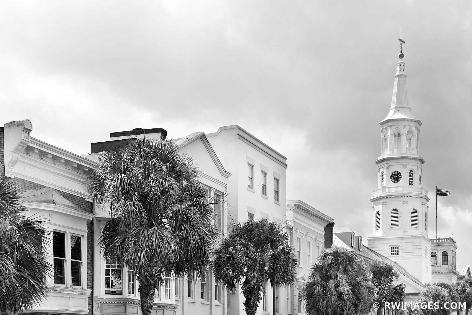 SAINT MICHAELS CHURCH CHARLESTON SOUTH CAROLINA BLACK AND WHITE