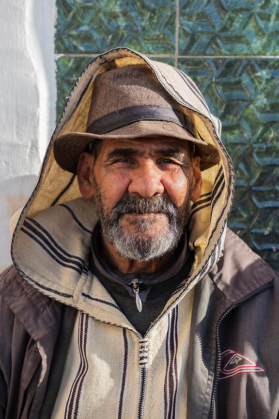 Portrait of a Street Vendor in the Old Medina