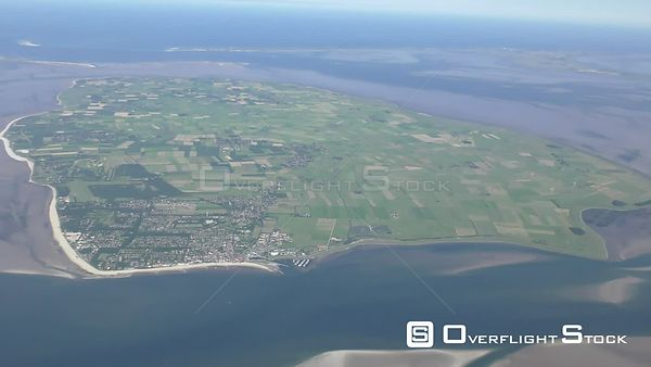 City view of Wyk on the North Sea island Fohr in the state of Schleswig-Holstein