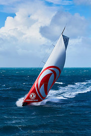 Volvo Ocean Race 2017 - DONGFENG - Skipper : Charles Caudrelier - Lorient le 04/03/2017