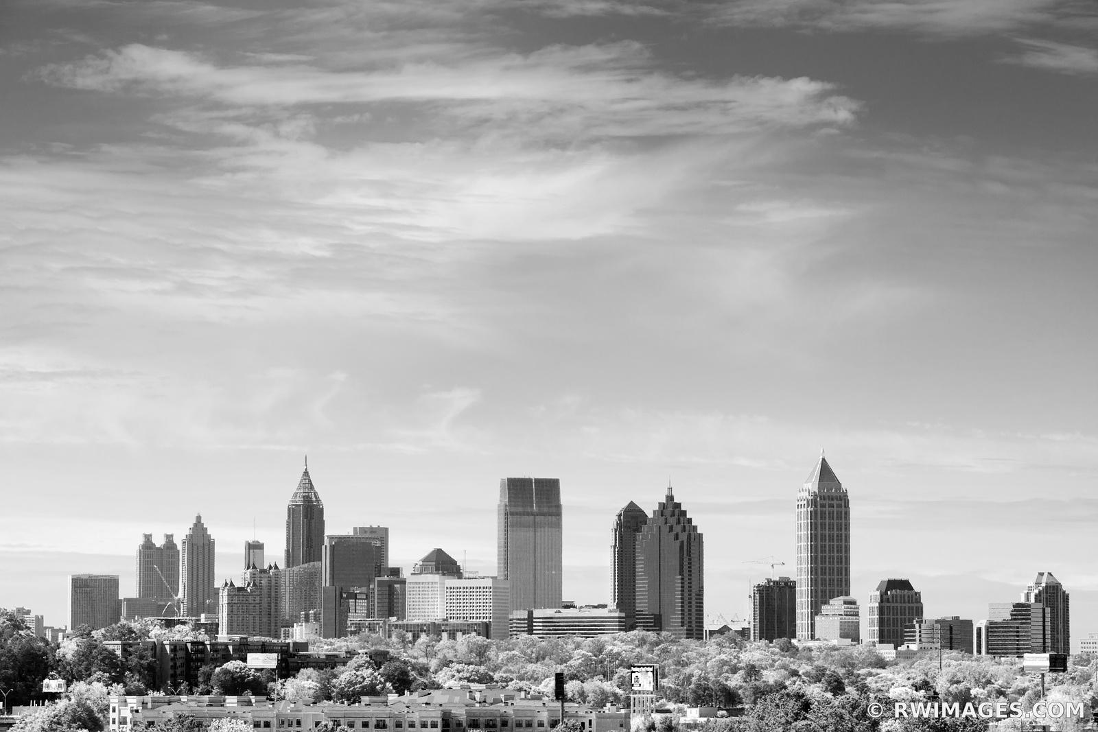 DOWNTOWN ATLANTA SKYLINE BLACK AND WHITE
