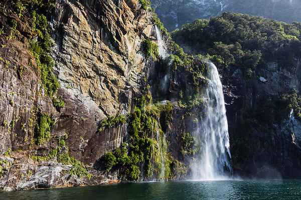The Fairy Falls in Milford Sound, Fiordland National Park, Southland Region, New Zealand