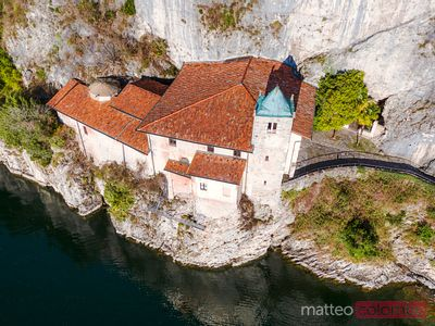 Santa Caterina hermitage on lake Maggiore, Italy