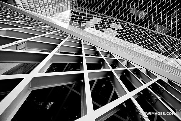 SEATTLE PUBLIC LIBRARY MODERN ARCHITECTURE SEATTLE WASHINGTON BLACK AND WHITE