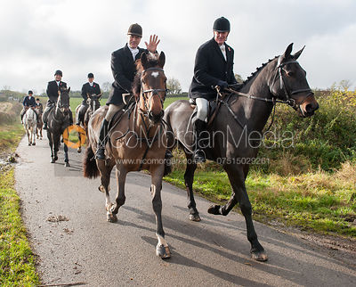 Peter Cooke and Nick Townsend - The Cottesmore Hunt at Tilton on the Hill 10/11/12