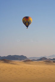 Aerial view of a balloon flight near the Sossuvlei dunes, Namibia