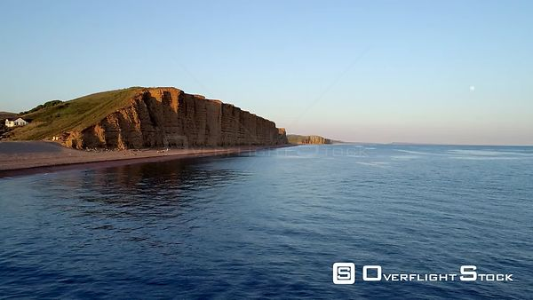 West Bay Cliffs.  Bridport Harbour, small harbour settlement and resort on the English Channel coast in Dorset, England