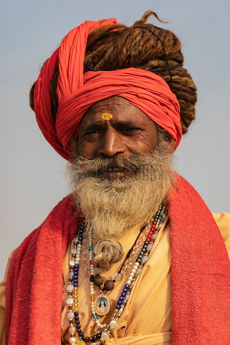 Portrait of a Sadhu with Dreadlocks