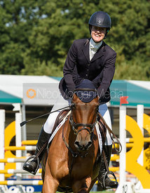 Willa Newton and CHANCE REMARK, showjumping phase, Land Rover Burghley Horse Trials 2018
