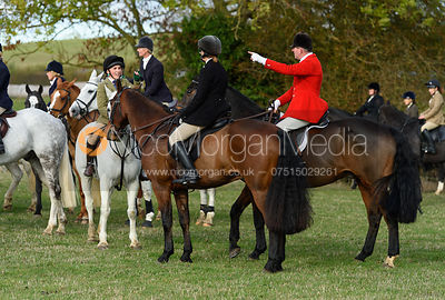 Sara Hercock, Tim Hercock near Little Dalby. Quorn Hunt Opening Meet 2018