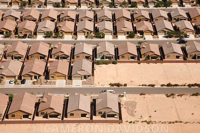 Aerial of homes near Douglas, Arizona