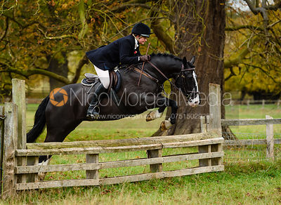 Anna Lane jumping a fence near The Kennels.