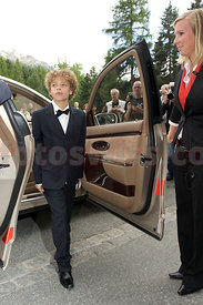 Children at Boris Becker Lilly Kerssenberg Wedding Event in Saint Moritz.