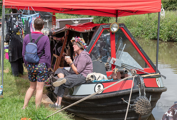Crowds enjoy the 2018 Middlewich Folk and Boat Festival held in Middlewich, Cheshire, UK.