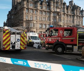 Traffic Accident, Princes Street, Edinburgh, Thursday 5th January 2017.