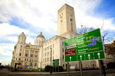 St George's Dock Ventilation Shaft Building and Road Sign