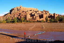 The Kasbah at Ait Benhaddou, Morocco; Landscape