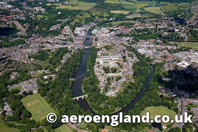 aerial photograph of Durham  County Durham, England UK