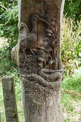Wood carving, Cors Caron