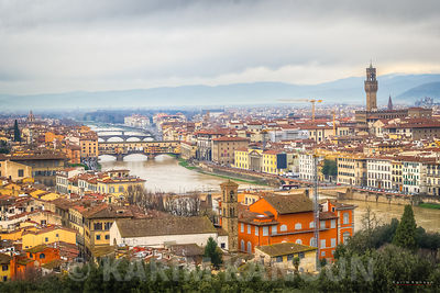 Florence city view bridges