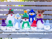 Snow balls as Christmas characters