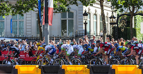 The Peloton in Paris - Tour de France 2012