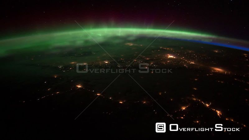 Time-Lapse from ISS over  Canada Exp30 Aurora Borealis 25 Jan 2012