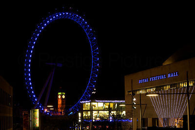 The London Eye & Royal Festival Hall at Night