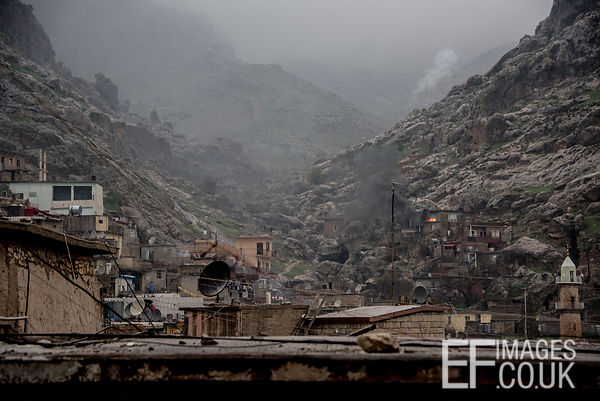 The Town Or Akre, Iraq, On A Cloudy Day