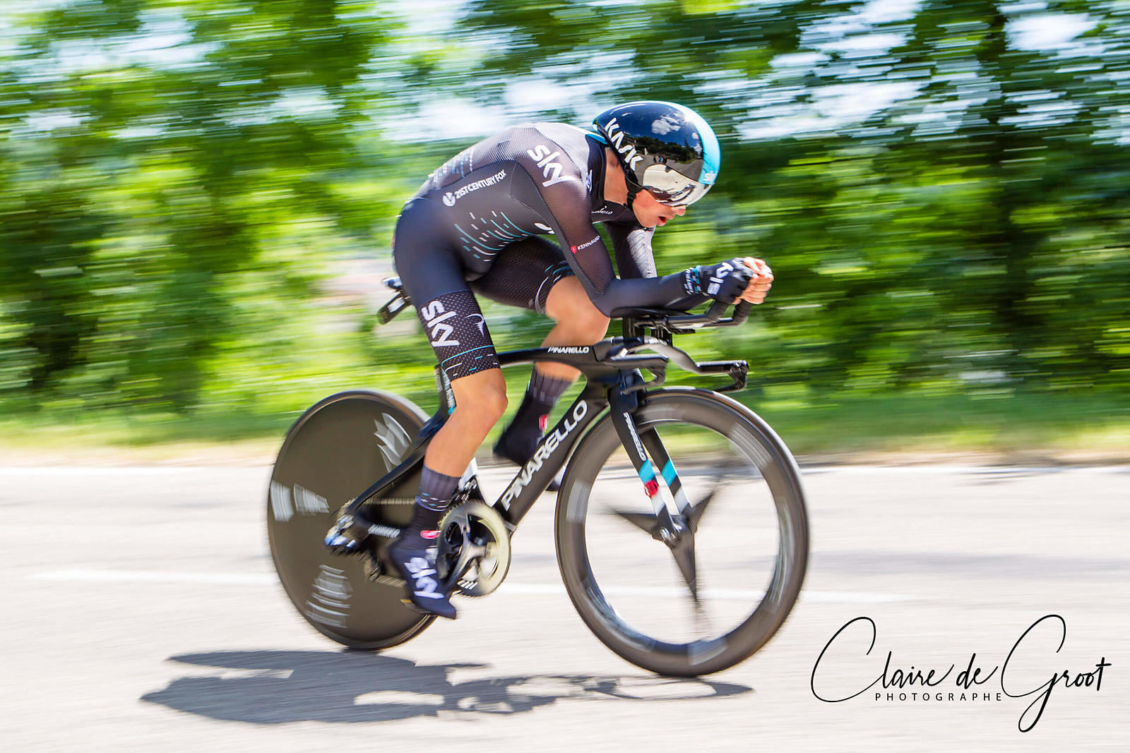 Peter Kennaugh from Team Sky in the 2017 Criterium du Dauphiné time trial